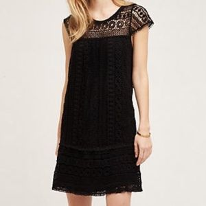 Black woven Anthropologie dress